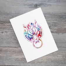 Wohnzimmer Design Wandbilder Wolf Kunstdruck Bilder Aquarell Tier Wohnkultur Tattoo Design