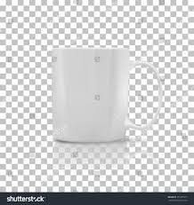 cup mug white color object coffee stock vector 351375917