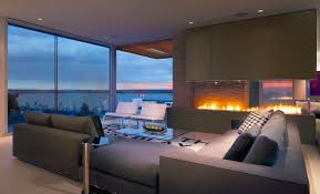 Livingroom Interiors Living Room With A View Of The Ocean And Of The Fire