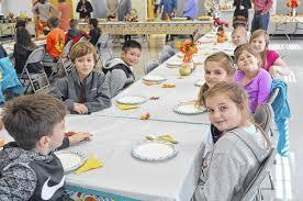 pilot mountain news shoals students enjoy thanksgiving feast