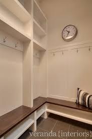 Built In Storage Bench Mudroom Lockers Contemporary Laundry Room Veranda Interiors