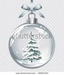 vector christmas fir tree realistic transparent stock vector