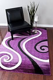 Purple And Grey Area Rugs Purple And White Area Rugs Amazon Com 0327 Black 5 2x7 2 Rug