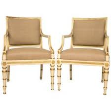 Antique Upholstered Armchairs Pair Of Orig Antique French Gilt Aubusson Fabric Upholstered