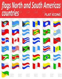 South America Flags Flags North And South Americas Countries Flat Icons Royalty Free