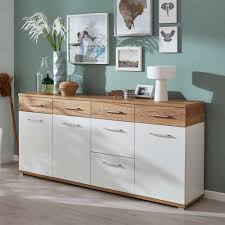 wohnzimmer sideboard sideboard in weiß eiche 190 cm jetzt bestellen unter https