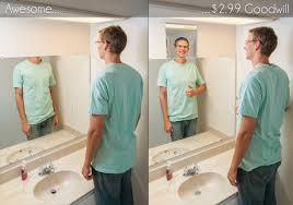 fixing my too low bathroom mirror tall
