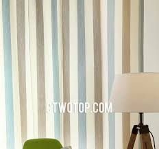 baby blue and brown affordable unique chic striped curtains