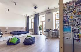 Plain Contemporary Studio Apartment Design Interesting With - Apartment design concept
