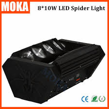 1 pcs lot led spider moving head dj spider light 8x10w rgbw
