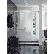 Frameless Slider Shower Doors Frameless Bypass Sliding Shower Doors Showers The Home Depot