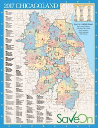 Chicago Zip Code Map by Maps Saveon