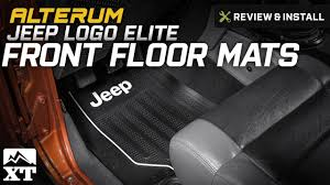 jeep beach logo jeep wrangler alterum jeep logo elite front floor mats 1987 2017
