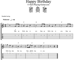 tutorial gitar dear god happy birthday guitar chords tabs notes for solo instrument