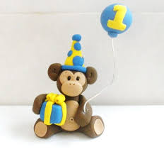 monkey cake topper monkey cake topper you design by kenzcreations on etsy 20 00