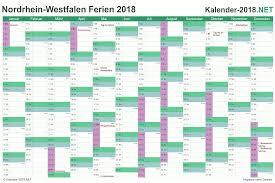 Kalender 2018 Mit Feiertagen Saarland Ferien Nordrhein Westfalen 2018 Ferienkalender übersicht