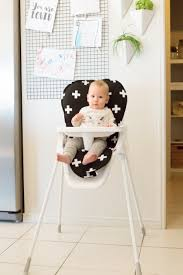 Baby High Chair Cover High Chair Cover Black U0026 White Cross Little Warblers