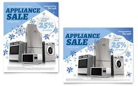 Electronics Kitchen Appliances - kitchen appliance sale poster template design