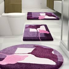 decor charming pink oval rug with flower plus laminate floor