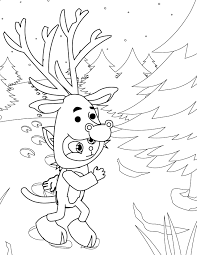 reindeer coloring page handipoints