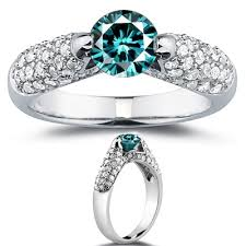 real diamonds rings images Solitaire blue diamond engagement ring fancy color real diamond jpg