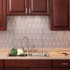 Thermoplastic Panels Kitchen Backsplash Fasade Backsplash Square In Crosshatch Silver