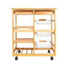 kitchen storage cupboard on wheels zimtown rolling kitchen island utility serving cart with storage shelves lockable wheels wood color