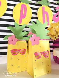 where to buy goodie bags pineapple party favor bags flamingo party ideas