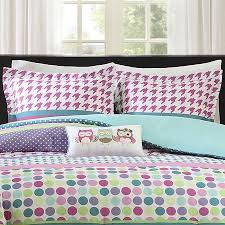 Polka Dot Comforter Queen Teen Kids Full Queen Comforter Bedding Set Owls Polka Dot