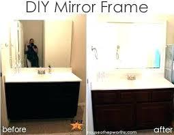 Diy Bathroom Mirror Ideas Diy Bathroom Mirror Frame Ideas Akapello