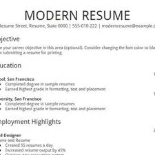 Modern Resume Templates Free Modern Looking Resume Resume For Your Job Application