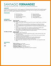 Resume For Shoe Sales Associate Retail Sales Resume Lukex Co