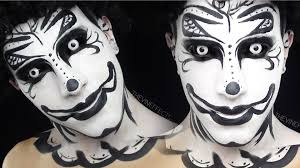 Halloween Makeup Clown Faces by Black And White Clown Makeup Tutorial Youtube