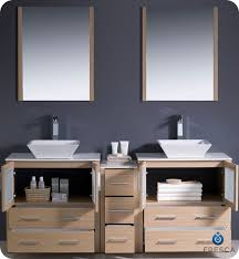 Bathroom Vanity With Side Cabinet 72