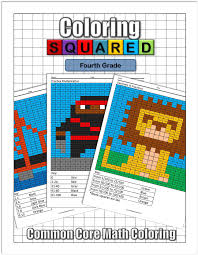 math facts coloring squared