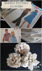 pattern making tissue paper how to make tissue paper flowers from sewing patterns crafts