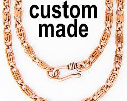 solid copper necklace images Pure copper chain etsy jpg
