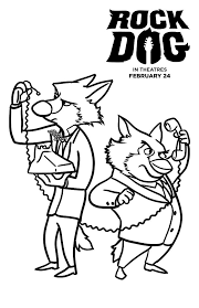 coloring magnificent rock coloring pages free dog 1