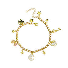 dongsheng new ornaments sailor moon bracelet form moon cat
