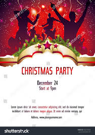 christmas party invitation template stock vector 532213345
