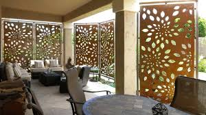 Contemporary Patio Doors Privacy Screen Patio For Rusted Steel Privacy Screen
