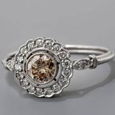 antique art deco style platinum 45ct u0027light cognac u0027 diamond