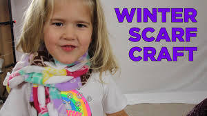 how to make a winter scarf crafts for kids 4 youtube