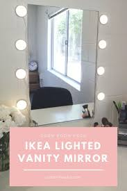 cheap makeup vanity mirror with lights ikea lighted mirror vanity dorm room hack just a little julia