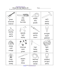 adjective activities and worksheets enchantedlearning com