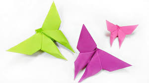 how to make paper origami butterfly easy step by step for kids for