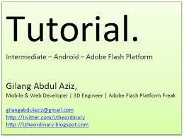 membuat aplikasi android sederhana dengan flash membuat aplikasi android sederhana menggunakan adobe flash builder