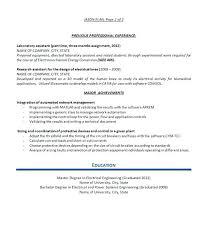 sample electrical engineer resume resume example electrical