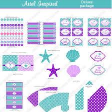 ariel inspired printable deluxe package