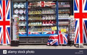 Flag Store Souvenir Shop In London Selling Union Jacks Big Ben Mugs Flags
